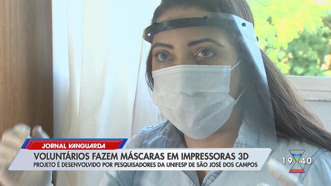 Confira a produção de máscaras em impressoras 3D em São José dos Campos