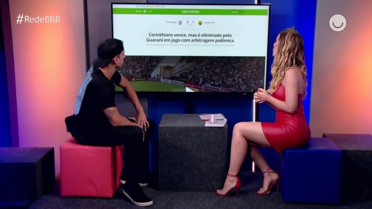 Prior descobre eliminação do Corinthians na Libertadores pelo Guaraní-PAR