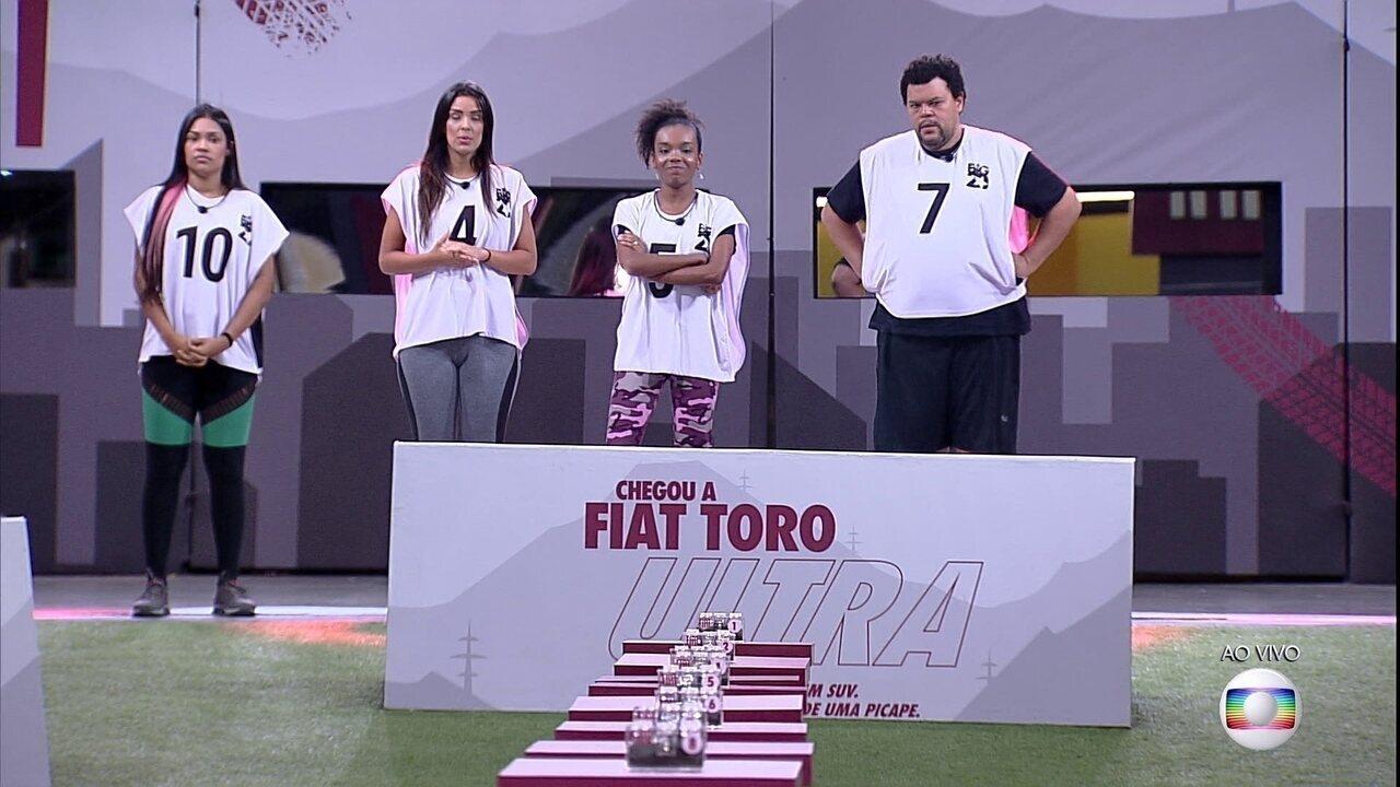 Semifinal da Prova do Líder Fiat do BBB20: Ivy, Thelma, Babu e Flayslane