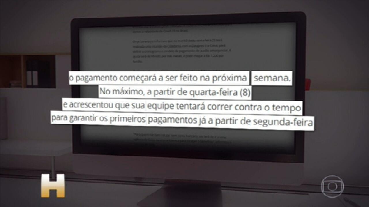 Governo publica no Diário Oficial lei que prevê pagamento do auxílio emergencial de R$600