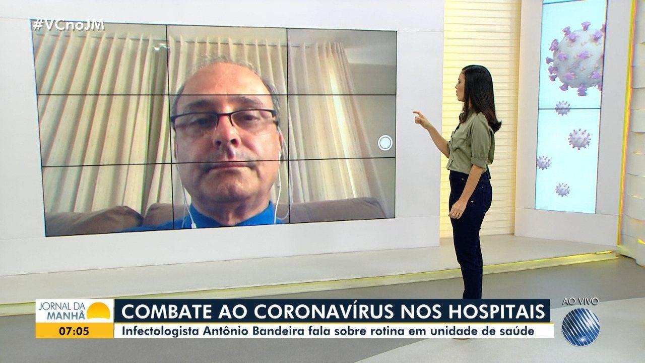 Infectologista Antônio Bandeira fala sobre a rotina hospitalar em tempos de pandemia