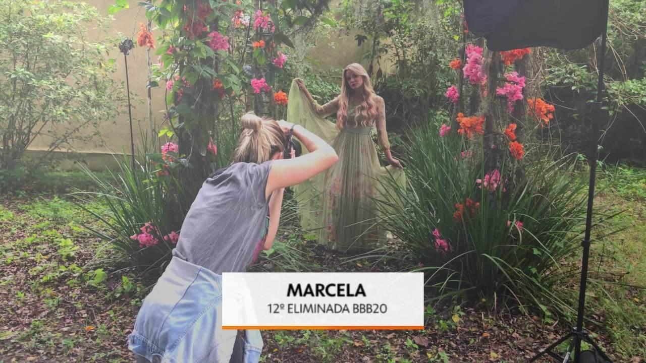 Confira os bastidores do ensaio de Marcela