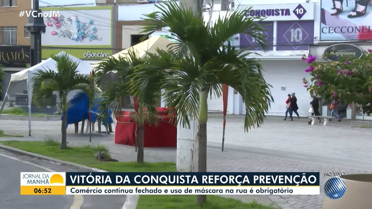 Prefeitura de Vitória da Conquista, mais uma vez, decreta fechamento do comércio local