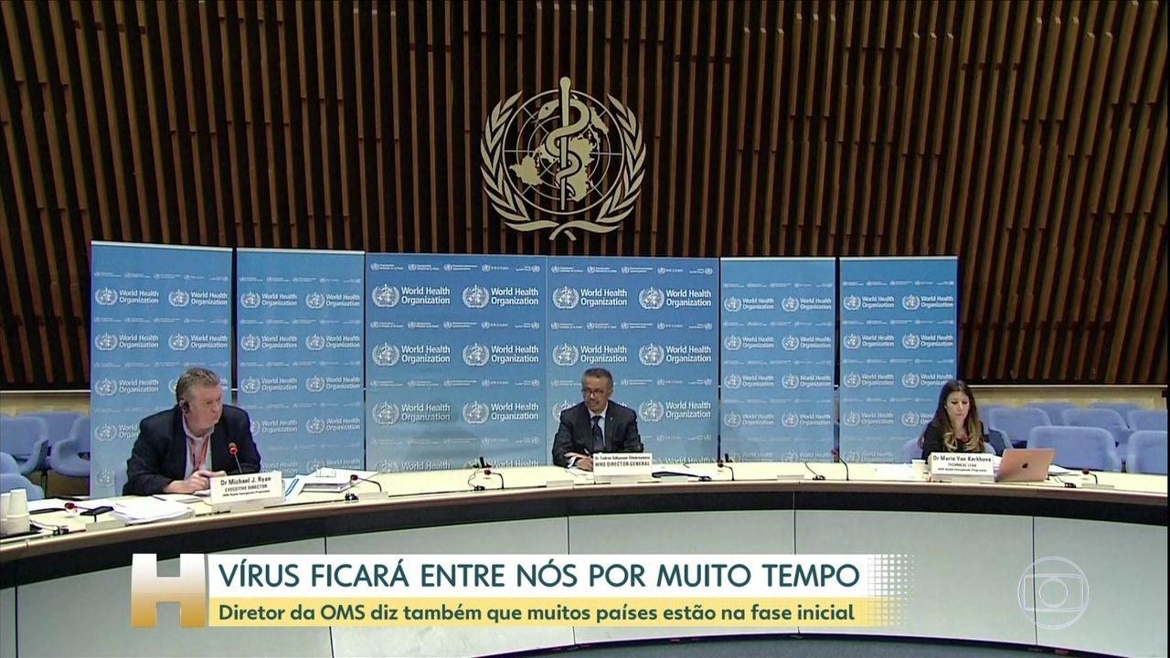 Coronavírus: OMS diz que maioria dos países está na fase inicial da pandemia