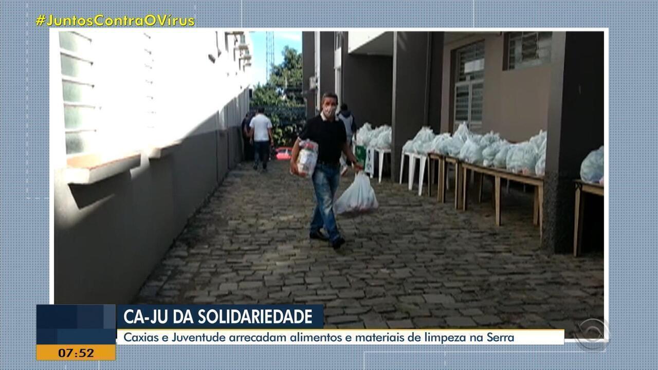 Caxias e Juventude arrecadam alimentos para doação