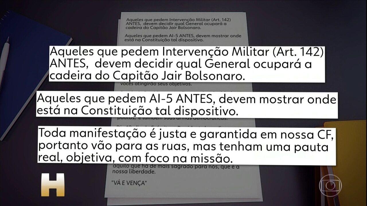 Bolsonaro envia mensagem a Dias Toffoli em tom de conciliação