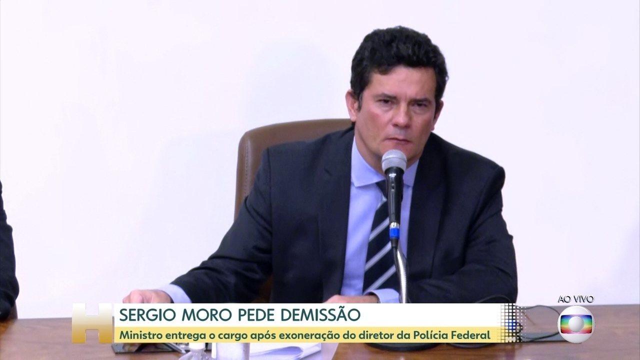 Moro anuncia saída do Ministério da Justiça e Segurança Pública