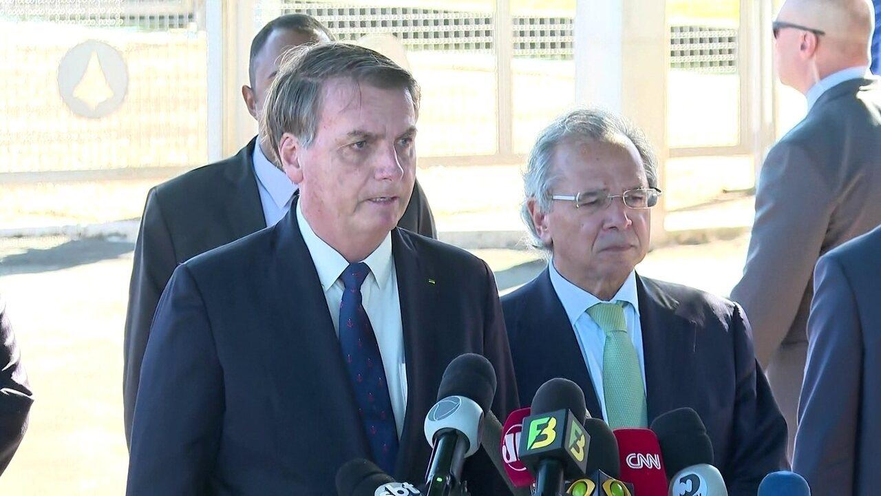 'O homem que decide a economia do Brasil é um só e chama-se Paulo Guedes', diz Bolsonaro