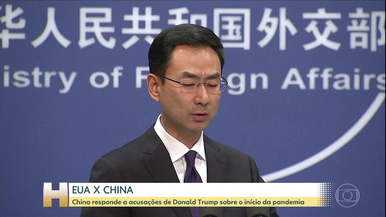 Coronavírus: China responde a acusações de Donald Trump sobre o início da pandemia