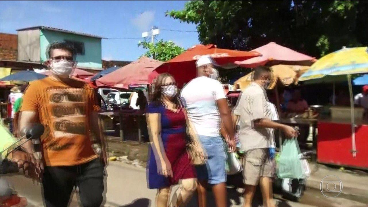 Moradores da periferia de São Luís causaram aglomeração no segundo dia de Lockdown