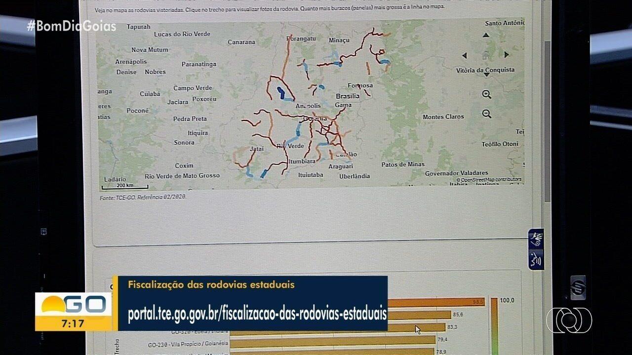 Mapa interativo aponta que Goiás tem trecho de rodovia com buracos ...