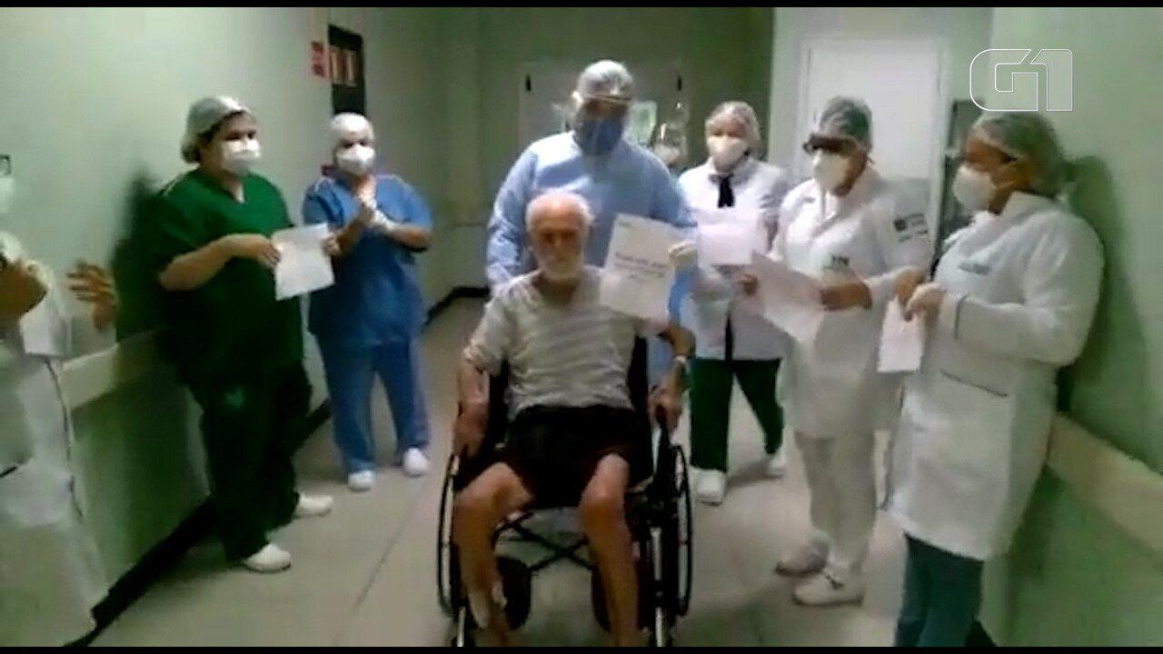 Idoso de 106 anos se recupera da Covid-19, em João Pessoa