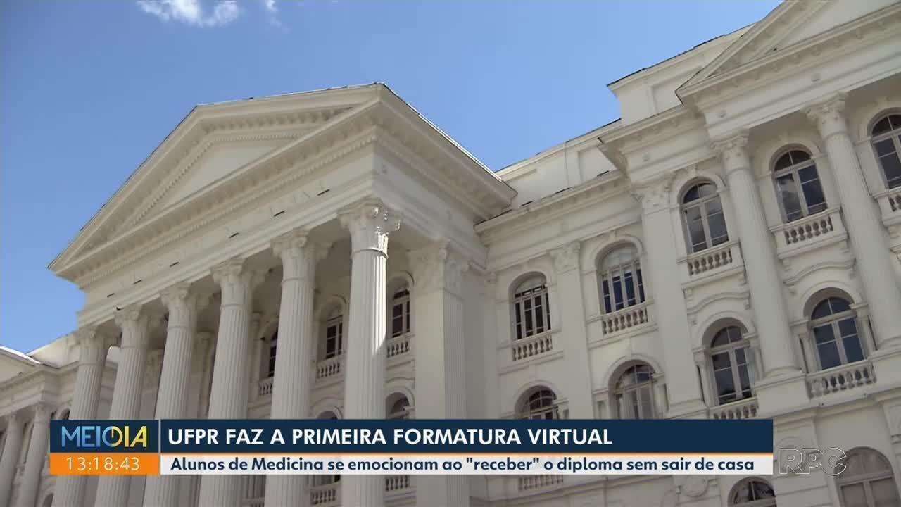 UFPR faz primeira formatura virtual