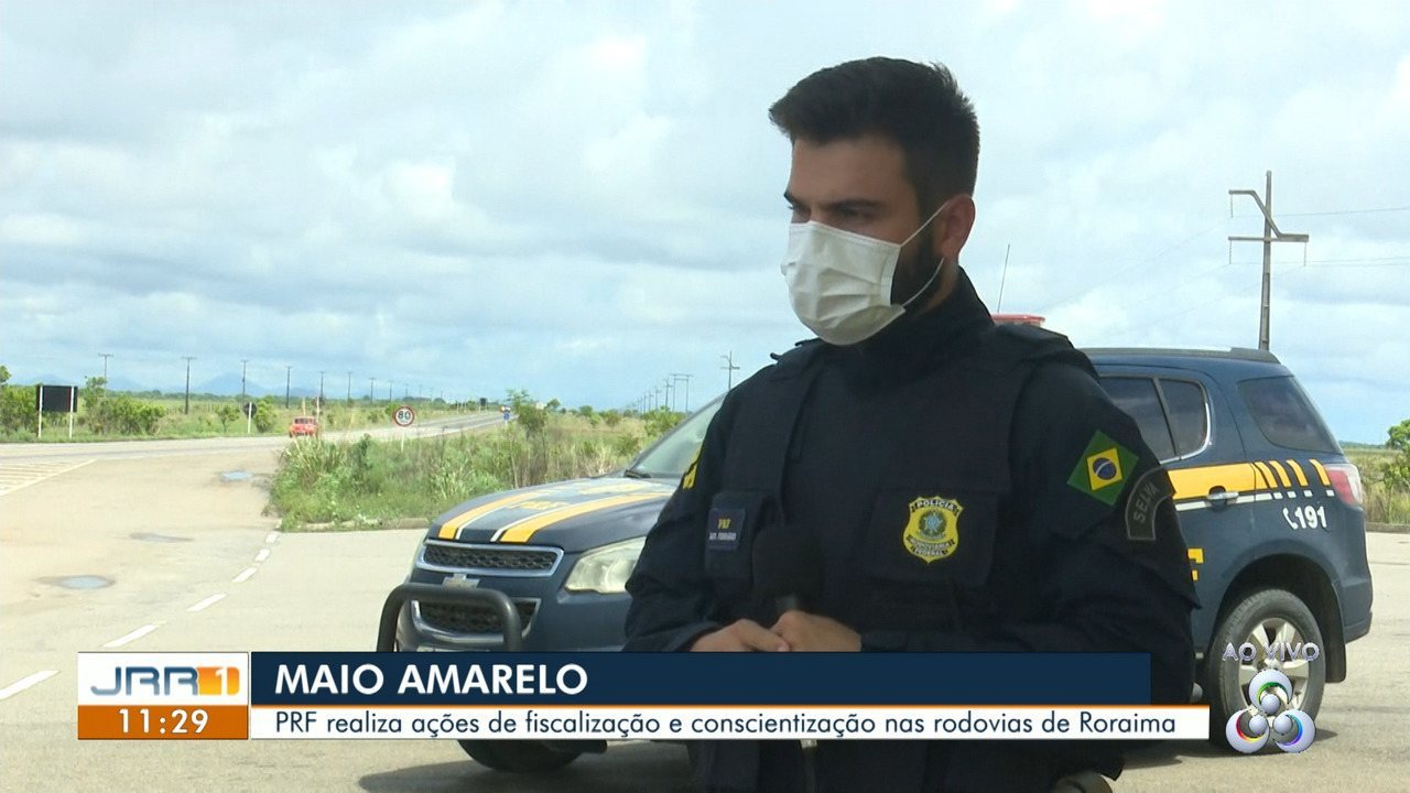 Jornal de Roraima 1ª edição | Maio amarelo: PRF realiza ações de  fiscalização e conscientização nas rodovias de Roraima