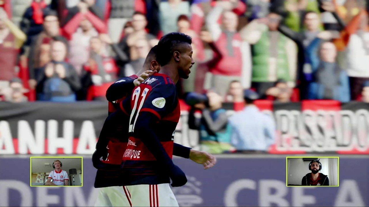Melhores momentos: Flamengo (Gabigol) 4 x 3 (Bruno Fuchs) Internacional pelo Futebol de Casa
