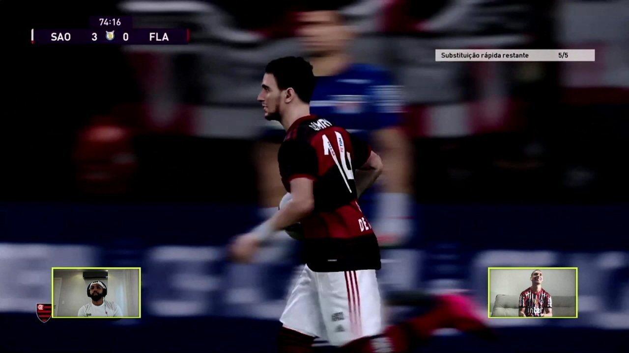 Gol do Flamengo! Arrascaeta aproveita passe de Gabigol e conclui, aos 29 do 2ºT