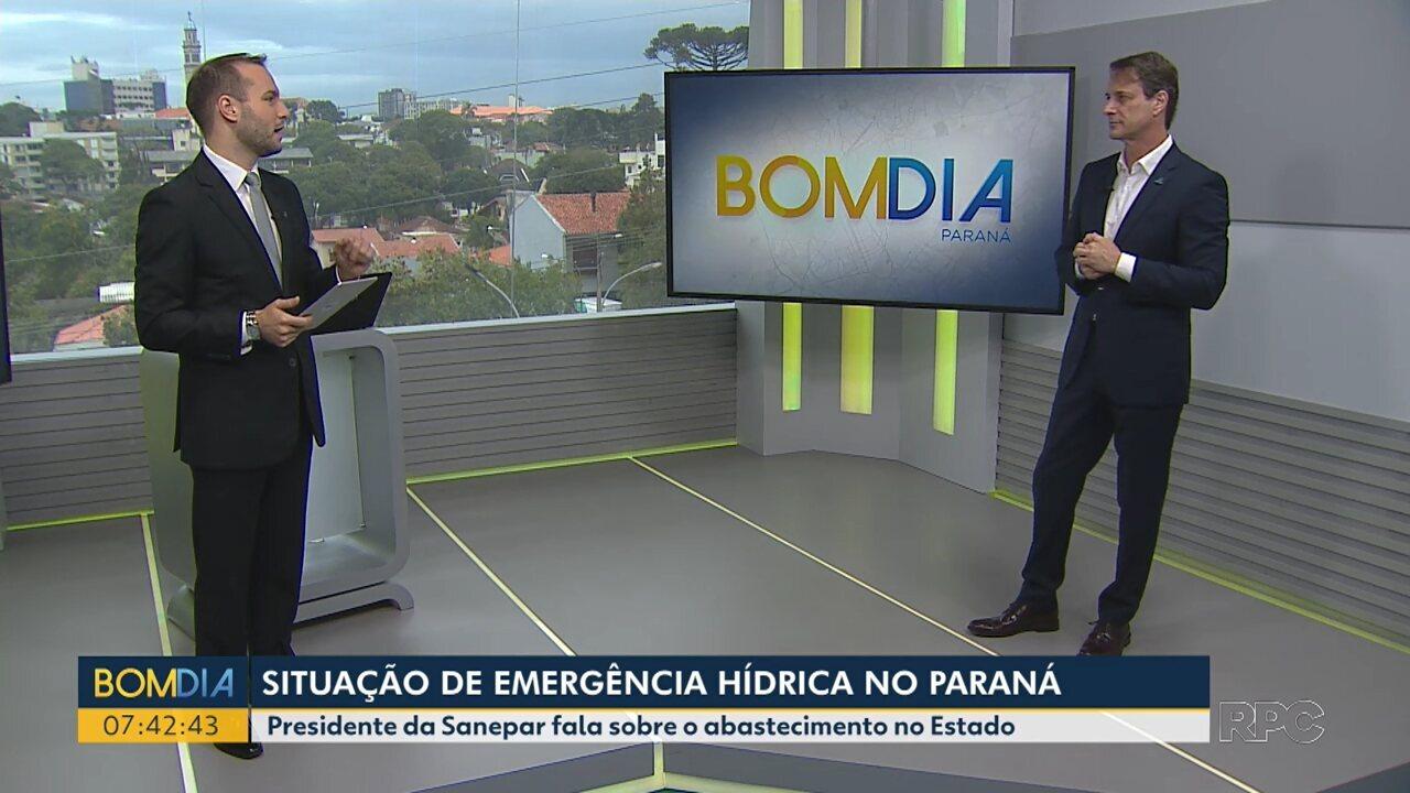 Situação de emergência hídrica no Paraná