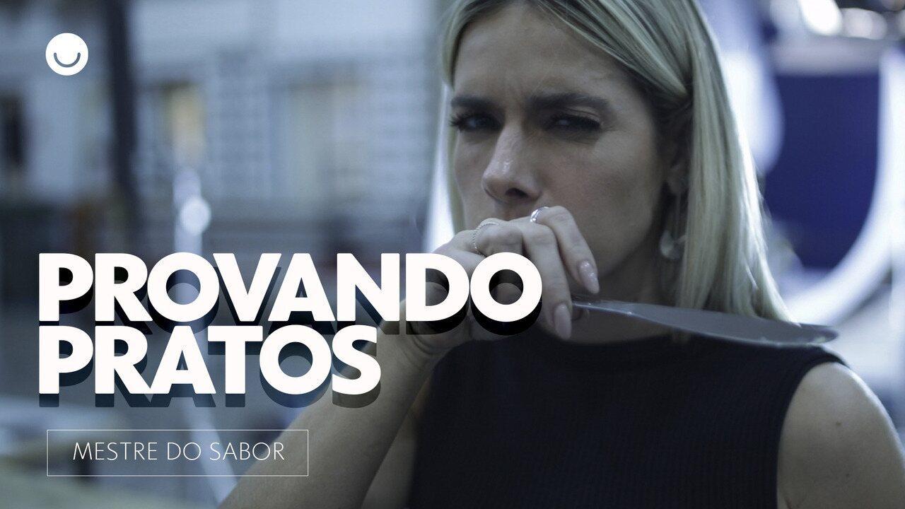 Monique Alfradique prova pratos de participantes do Mestre do Sabor