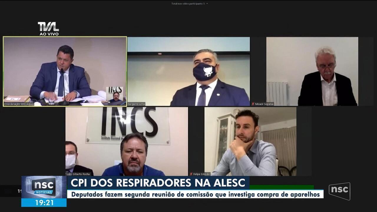 Alesc tem segunda sessão da CPI dos Respiradores