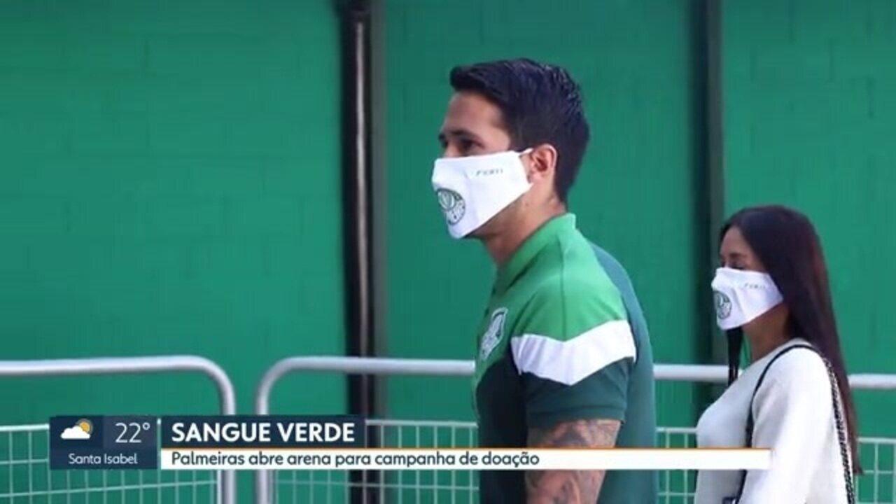 Com zagueiro Luan, arena do Palmeiras abre para campanha de doação de sangue