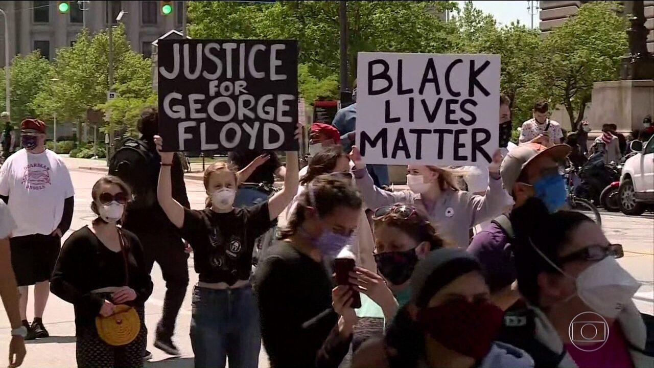 Manifestantes protestam contra morte de homem negro pelo 5º dia seguido nos EUA