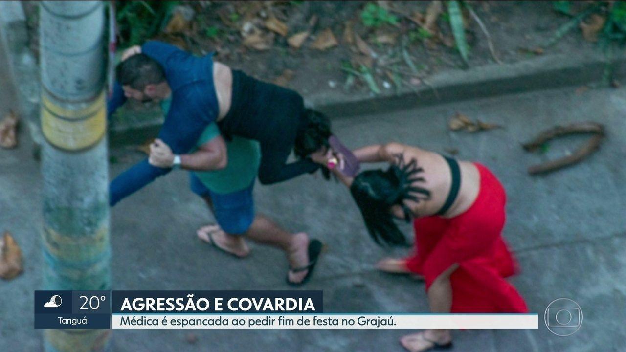 Médica é covardemente agredida ao pedir o fim de uma festa no Grajaú