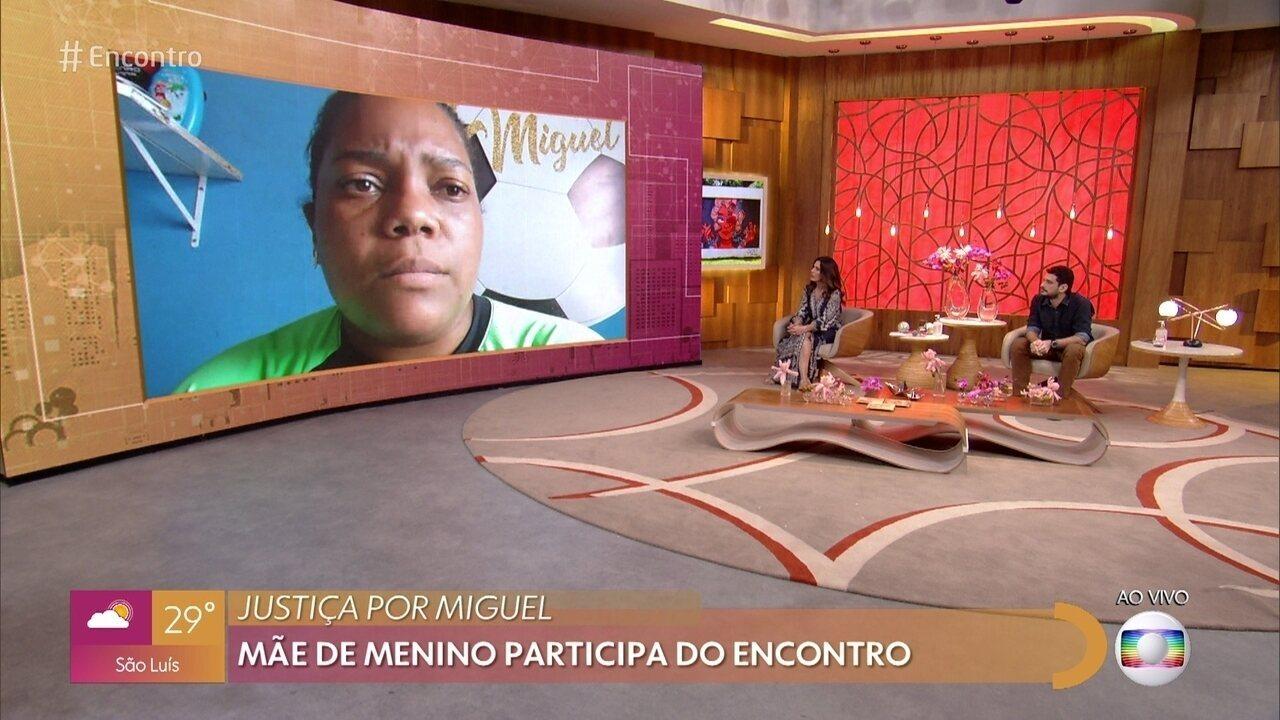 Mãe do menino Miguel afirma que lutará por justiça