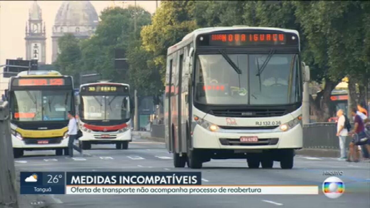Oferta de transporte não acompanha processo de reabertura no Rio