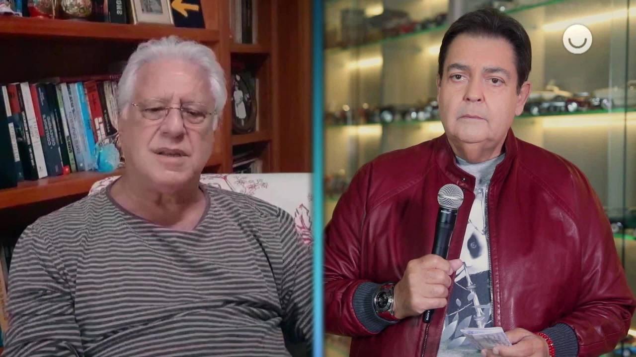 Antonio Fagundes conversa com Faustão sobre racismo no 'Domingão'