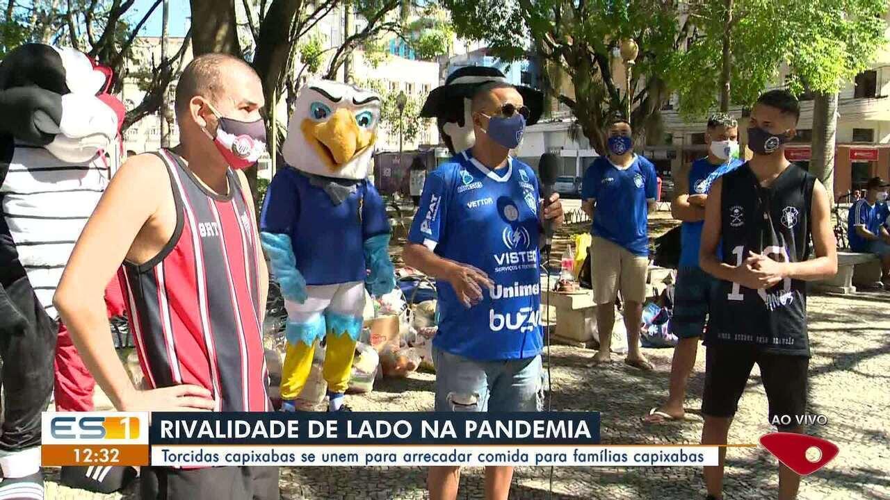 Torcidas do Serra, Vitória-ES e Rio Branco-ES se unem para arrecadar alimentos para famílias capixabas
