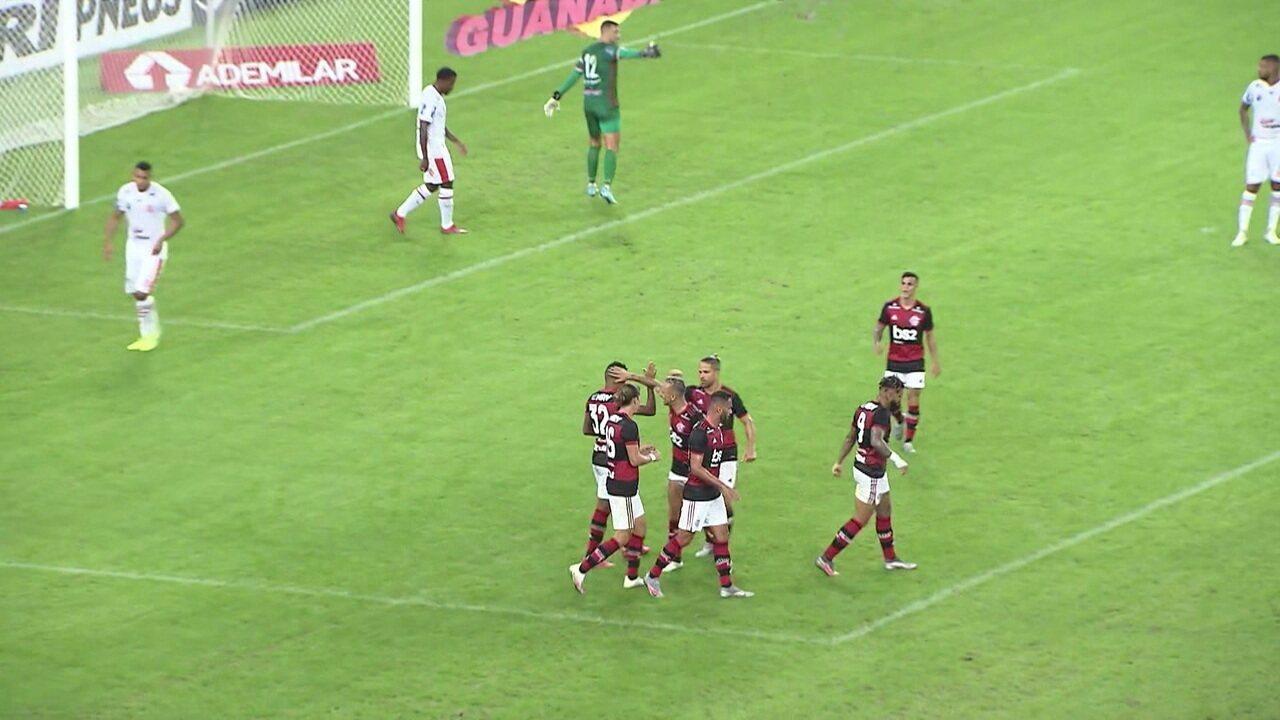 Os gols de Bangu 0 x 3 Flamengo pela 4ª rodada da Taça Rio