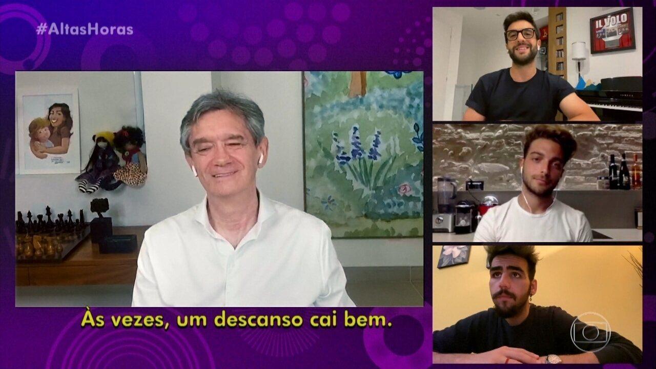 Il Volo conversa com Serginho por vídeo