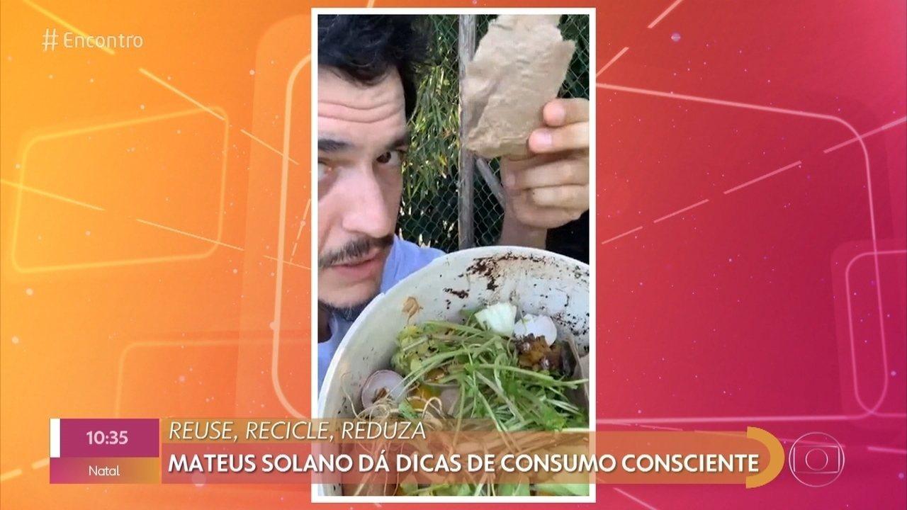 Mateus Solano se define como ativista ambiental e ensina fazer uma composteira
