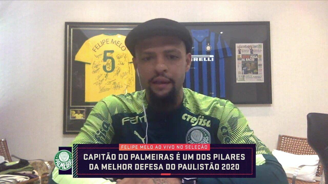 Felipe Melo analisa vitória sobre o Água Santa, comenta desempenho como zagueiro e projeta quartas de final do Paulistão