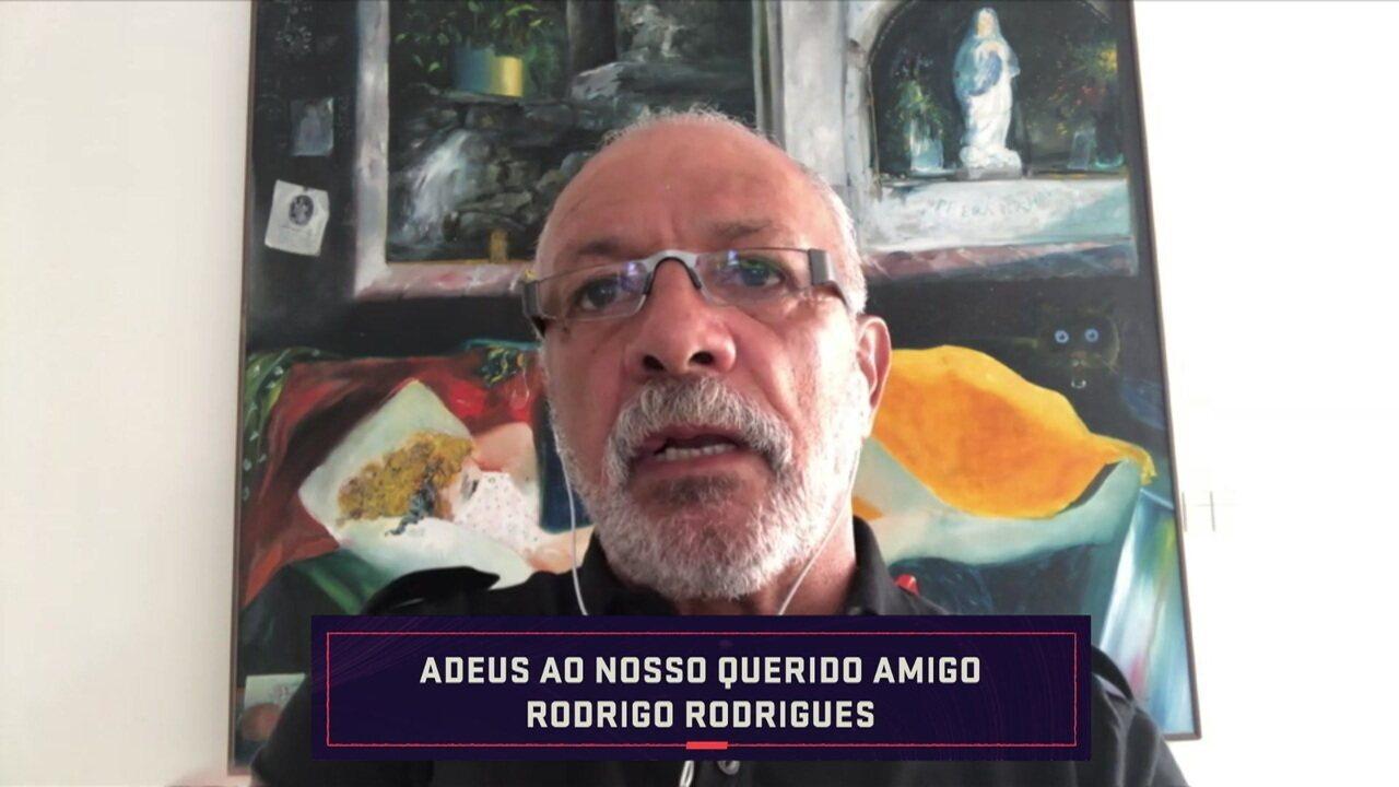 """Júnior fala sobre Rodrigo Rodrigues: """"Adjetivo para qualificá-lo é fácil"""""""