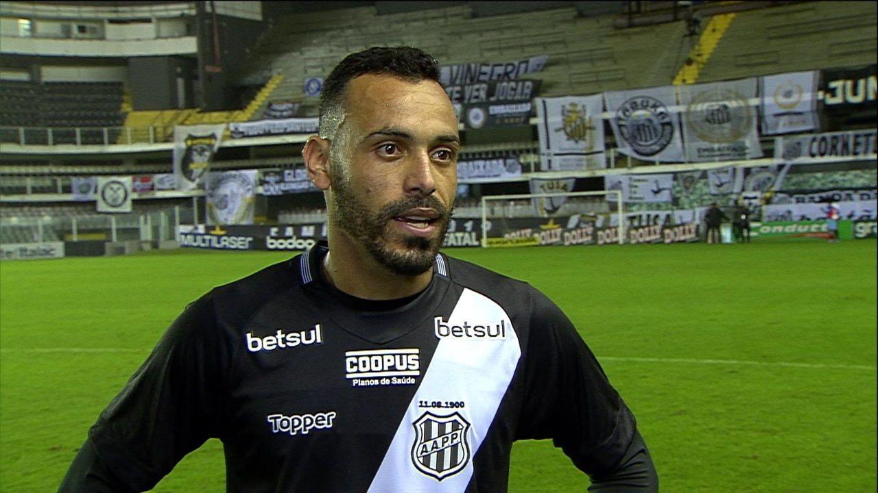 """Recém chegado na Ponte Preta e após marcar contra o Santos, Moisés revela: """"Sonho realizado de jogar na Vila"""""""