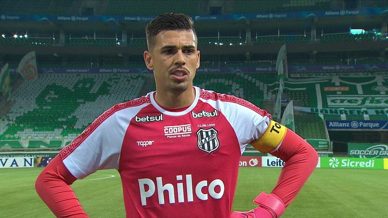 Ivan diz que Ponte Preta sai de cabeça erguida após eliminação pelo Palmeiras