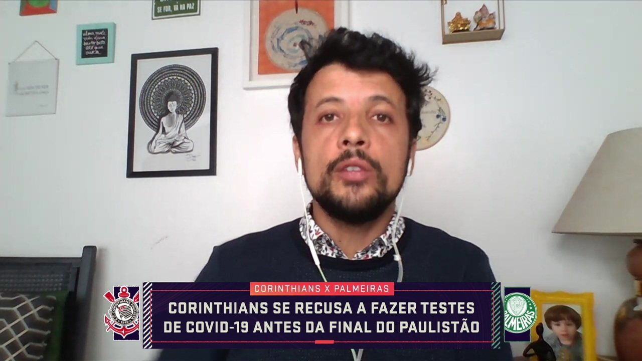 André Hernan conta que o Corinthians se recusou a fazer testes de Covid-19 antes da final do Paulistão