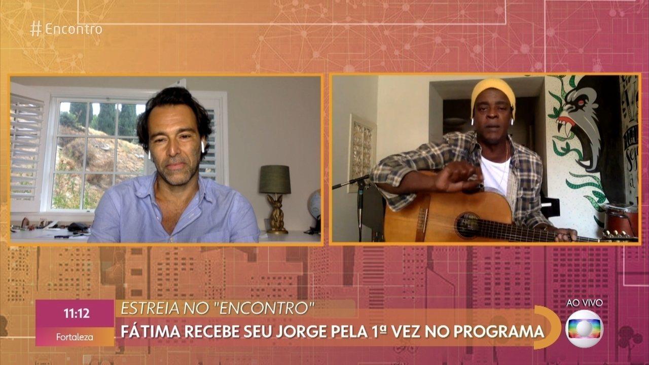 Estreia no Encontro: Fátima recebe seu Jorge pela primeira vez no programa