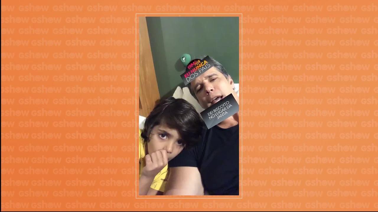 Marcio Garcia e Lucas Lima usam o novo filtro de Tamanho Família