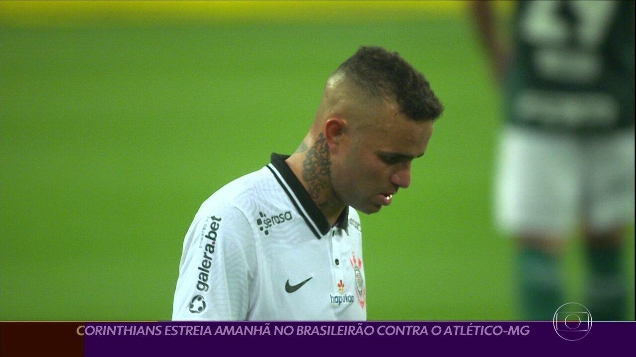 Corinthians se prepara para a estreia no Brasileirão contra o Atlético-MG