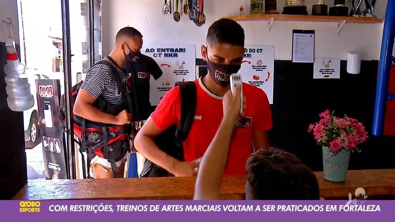 Com restrições, artes marciais voltam à atividade em Fortaleza