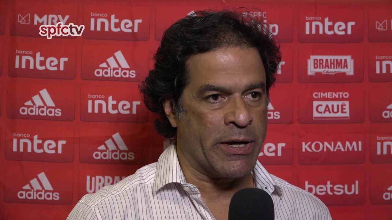 Confira a entrevista de Raí, dirigente do São Paulo, após a derrota para o Vasco