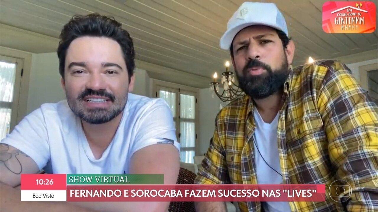 Fernando e Sorocaba fazem suceso nas lives durante a pandemia