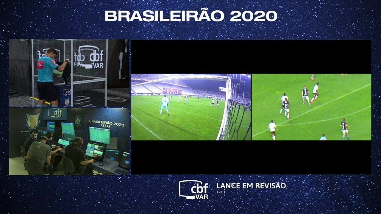 Otero faz gol de cabeça contra o Botafogo, mas lance é anulado pelo VAR