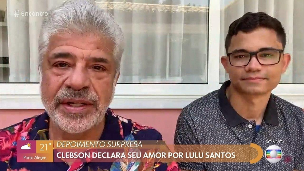 Lulu Santos se emociona com declaração de amor do marido