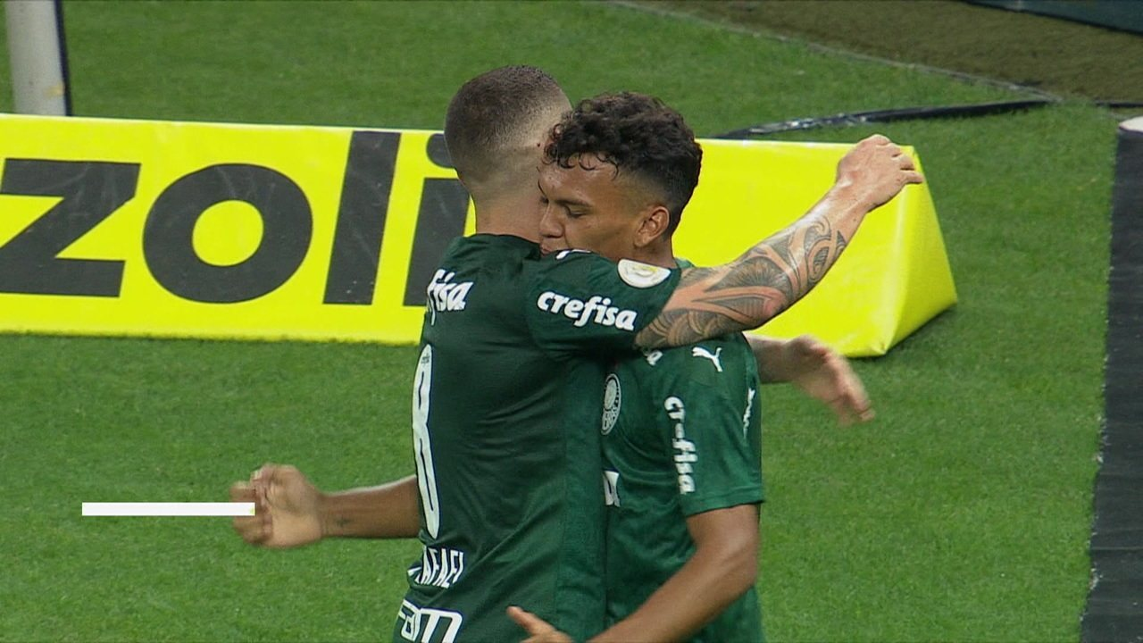 Os gols de Corinthians 0 x 2 Palmeiras pela 9ª rodada do Brasileirão 2020