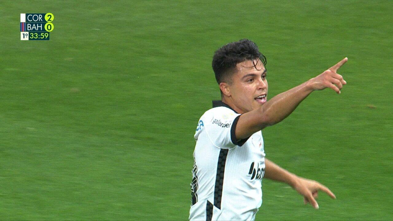 Gol do Corinthians! Roni chuta de fora da área e faz, aos 33 do 1ºT