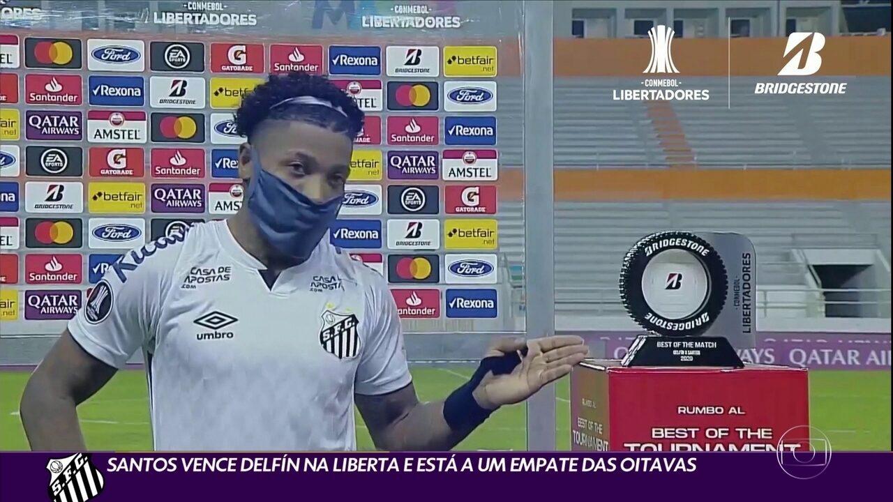 Santos vence Delfín na Liberta e está a um empate das oitavas