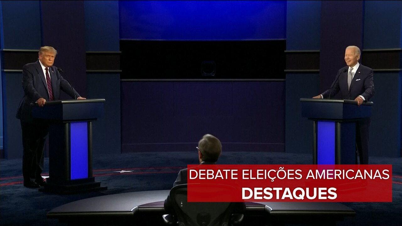 Veja os destaques do primeiro debate entre Donald Trump e Joe Biden